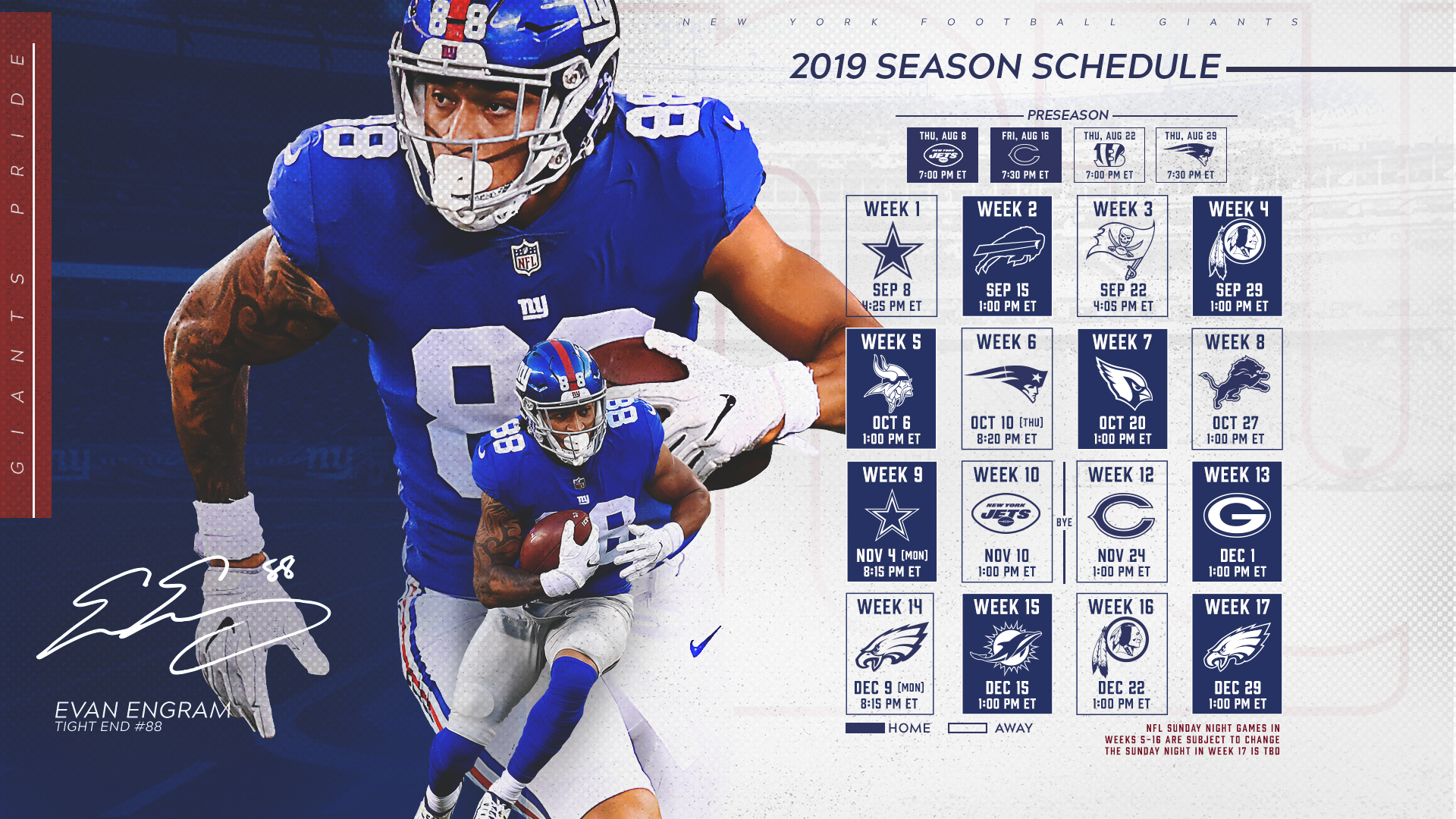 This is a picture of Striking Ny Giants Printable Schedule