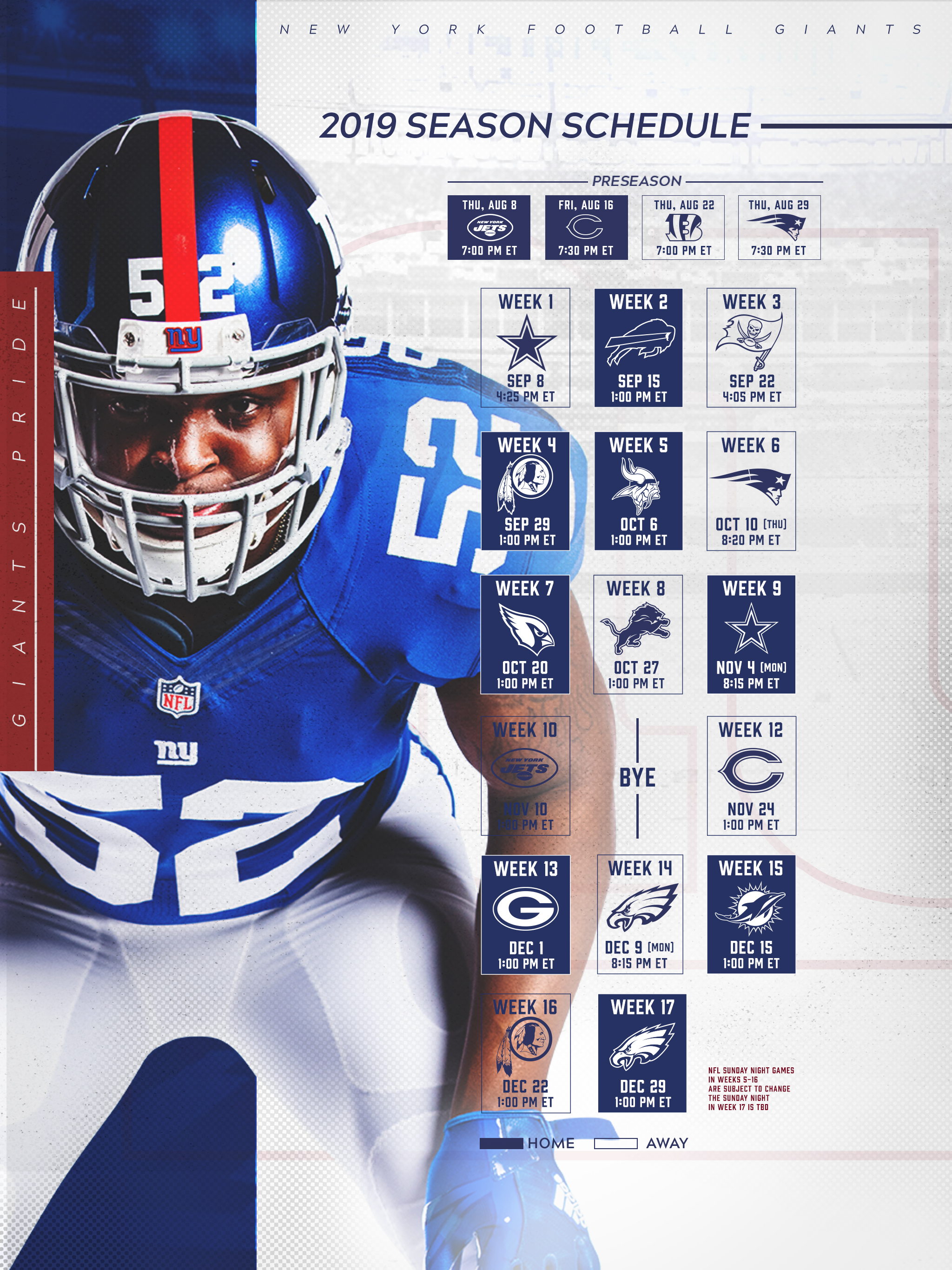 Giants Schedule New York Giants Giants Com
